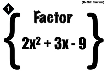 Factoring Trinomial Task Cards (where a>1)