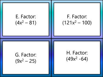 Factoring Task Cards