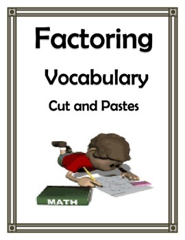 FACTORING VOCABULARY