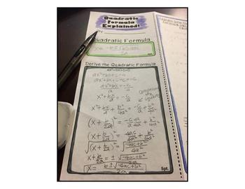 Factoring, The Quadratic Formula, Deriving, Mini Project, Algebra