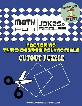 Factoring Third Degree Polynomials Cutout Puzzles