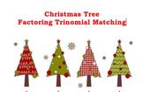 "Factoring ""Treenomials"" Trinomials Christmas Tree Matching Activity"
