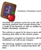 Factoring Trinomial Card Game