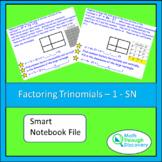 Algebra 1 - Factoring Trinomials - 1 - SN