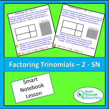 Algebra I:  Factoring Trinomials - 2
