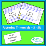 Algebra 1 - Factoring Trinomials - 3 - SN