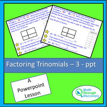 Factoring Trinomials - 3 - PPT