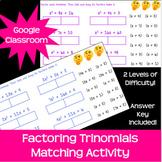 Factoring Trinomials Activity A=1 & A>1 *Google Classroom*