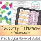 Factoring Polynomials Activity - Advanced