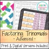 Factoring Polynomials (Trinomials) Activity - Advanced