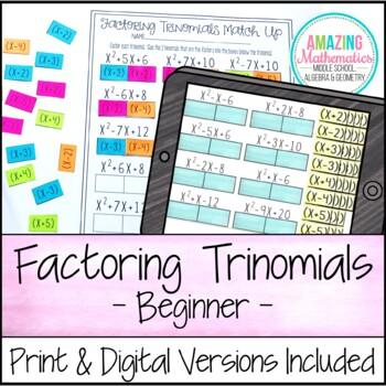 Factoring Trinomials Activity - Beginner