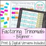 Factoring Polynomials (Trinomials) Activity - Beginner