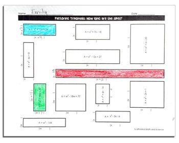 Factoring Quadratics Activity