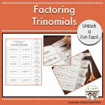 Factoring Trinomials, a=1, Algebra, Fun Fact