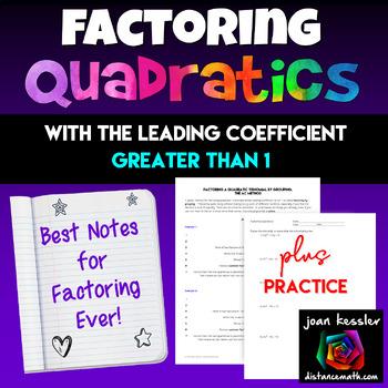 Algebra: Factoring Quadratics - Best Resource Ever for Algebra