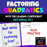 Algebra: Factoring Quadratics - Best Resource Ever for Algebra