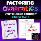 Algebra Factoring Quadratics - Best Resource Ever for Algebra