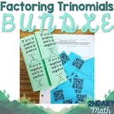 Factoring Trinomials Bundle- Foldable and QR Code Task Cards