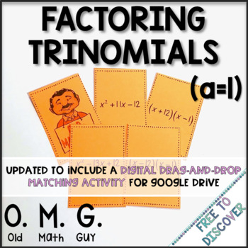 Factoring Trinomials Card Game (a=1)
