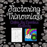 Factoring Trinomials Color By Number {St. Patrick's Day Themed}