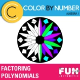 Factoring Trinomials Color by Number