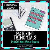 Factoring Trinomials Digital Puzzle