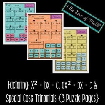 Factoring Trinomials Digital Puzzle
