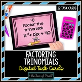 Factoring Trinomials: Digital Task Cards