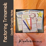 Factoring Trinomials Doodle Graphic Notes Packet