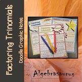 Factoring Trinomials Doodle Graphic Organizer Packet