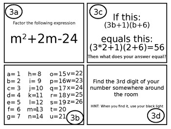 Factoring Trinomials Escape Room Breakout EDITABLE PPT