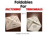 Factoring Trinomials Foldable (a=1)