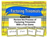 Factoring Trinomials Game