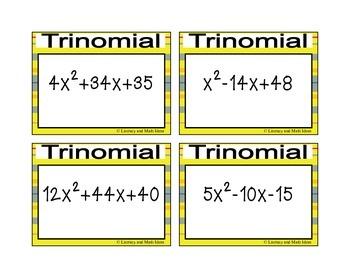 Factoring Trinomials Game