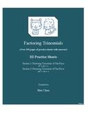 Factoring Trinomials (HI Practice Sheets)