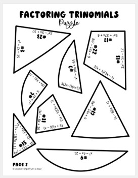 Factoring Trinomials (Heart- Shaped Puzzle)