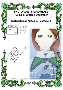 Factoring Trinomials Instructional Practice using a Graphic Organizer