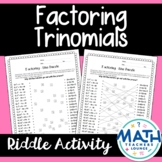 Factoring Trinomials: Line Puzzle Activity