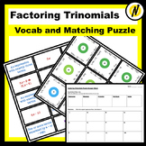 Factoring Polynomials (when a>1) Matching Puzzle and Vocabulary Review