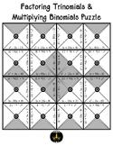 Factoring Trinomials & Multiplying Binomials Puzzle
