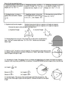 Factoring Trinomials Part 2 for Geometry Students Spring 2012