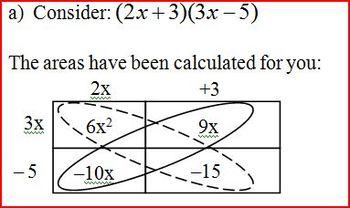 Factoring Trinomials: Part 3: Geometry 2012 (Editable)