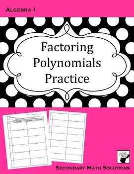 Factoring Polynomials Practice