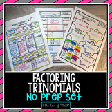 Factoring Trinomials Print and Go