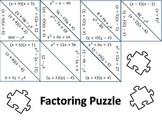 Factoring Trinomials Puzzle