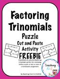 Factoring Trinomials Puzzle Activity FREEBIE