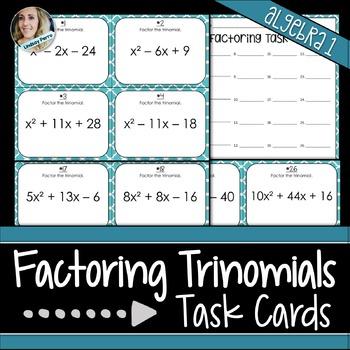 Factoring Trinomials Task Cards