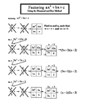Factoring Trinomials Using Diamond and Box