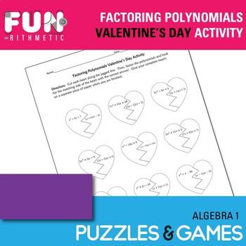 Factoring Trinomials Valentine's Day Puzzle