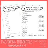 Factoring Trinomials Worksheet (Easy)